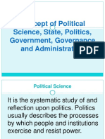 The Concept of Political Science State Politics and other