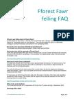 Fforest Fawr Tree Felling FAQ