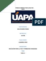 EducacionPara La Paz y Formacion Ciudadana Tarea 4 HAILYN