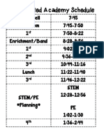 accelerated academy schedule