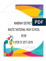 Cover Page Ipcrf