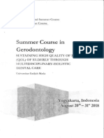 Summer Course Gerodontology Ugm