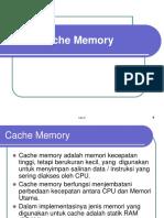 Pertemuan 4 Cache-memory