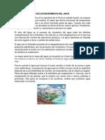 Ciclos Bioquímicos Del Agua