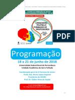 Programação Oficial Geral e Detalhada da IX Semana de Letras da UAST/UFRPE