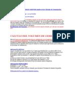 Factores de Conversion Comunes Usados en Los Cálculos de Cementación