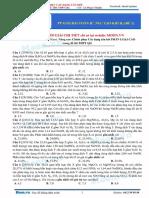 Kim loại tác dụng axit -  Chủ đề 1 Kim loại tác dụng dung dịch H+, NO3- tạo khí có M trung bình nhỏ hơn 28 đề 1