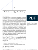 2 Hypothesis Testing
