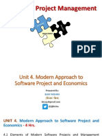 Unit 4. Modern Approach to Software Project and Economics