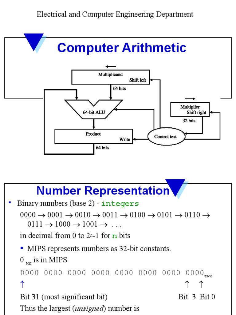 3computerarithmetic Division Mathematics 64 Bit Computing 1 Alu Logic Diagram Computerarithmetic