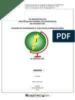 IV Encontro de Práticas de Ensino de Geografia da Região Sul -ENPEG-SUL