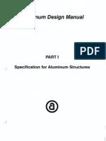 Aluminum Design Specifications AA