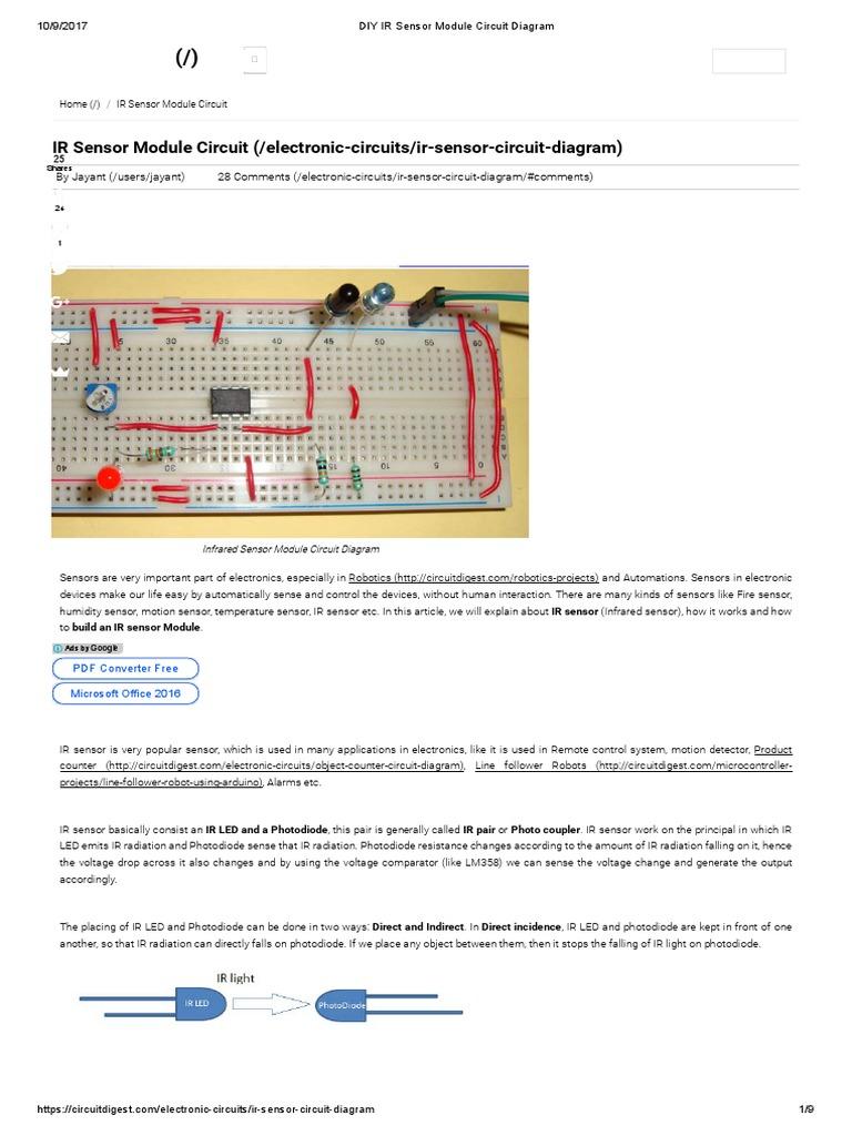 Ir Led Flood Light Circuit Diagram Electronic Circuit Projects