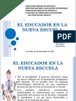 El Educador en La Nueva Escuela