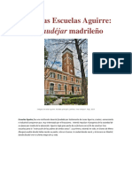 Antiguas Escuelas Aguirre_neomudéjar Madrileño_ Escuelas Aguirre de Madrid_EFRE