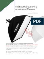 Qué Es Un Softbox y Un Paraguas