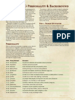 Guide to RPG Personality & Background