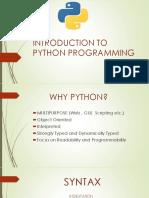Python Programming Session