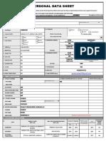 CS Form No. 212 Revised Personal Data Sheet (Gerick Dave Vender)
