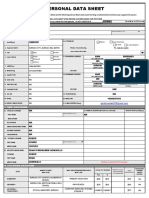 CS Form No. 212 Revised Personal Data Sheet (Gerick Dave Vender)