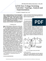 A New Push Pull Zero Voltage Switching Quasi Resonant Converter-Topology and Exper