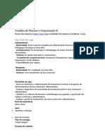 Analista de Pessoas e Organização III