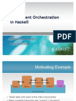 Concurrent Orchestration in Haskell
