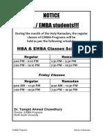MBA EMBARamadan Schedule 182