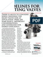 Guidelines for Selecting Valves