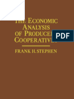 The Economic Analysis of Producer Cooperatives