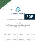 MMI-HSE-001-SOP 01 Identifikasi Penilaian Bahaya Dan Resiko Serta Petunjuk Pengisiannya 01