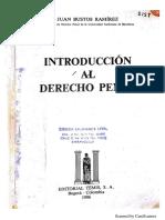 Introducción Al Derecho Penal - Juan Bustos Ramírez