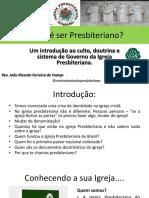 Estudo Sobre Presbiterianismo - Aula 01