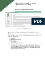 UDSM Online Application Guide_updated New