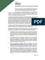 Condiciones y Términos Generales de Uso de Portal Web Vacíos Rev04