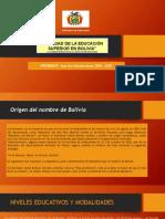 Realidad Educativa Superior Boliviana EXPO
