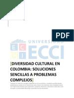 Ética y Sociedad, Diversidad Cultural en Colombia