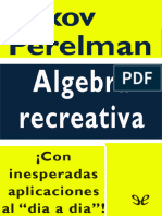Algebra recreativa - Yakov Perelman.epub