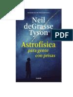 Degrasse Tyson Neil - Astrofisica Para Gente Con Prisas