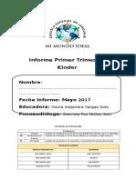Informe Evaluacion PRIMER Trimestre Kinder