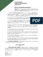 Affidavit of Proof of Identification