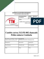 Cambio de Correa Transportadora 312FE002.