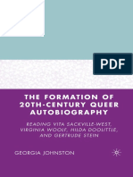 Georgia Johnston (Auth.) - The Formation of 20th-Century Queer Autobiography_ Reading Vita Sackville-West, Virginia Woolf, Hilda Doolittle, And Gertrude Stein (2007, Palgrave Macmillan US)