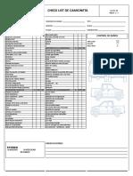 Check List Camioneta