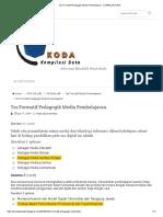 Tes Formatif Pedagogik Media Pembelajaran