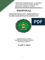 Proposal Rekom Ijop Madin Kemenag Kabupaten