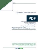 [Lido] (AULA 09) Diretrizes AMB - Osteomielite Hematog_nica Aguda (2007)