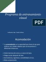 Programa de Entrenamiento Visual Para La Acomodación