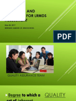 Guidelines and Processes for Lrmds Assessment