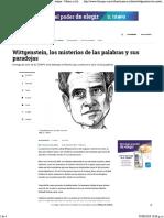 Wittgenstein, Los Misterios de Las Palabras y Sus Paradojas - Música y Libros - Cultura - ELTIEMPO